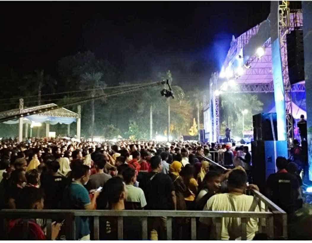 konser Nella Kharisma di Banjiri Puluhan Ribu Penonton