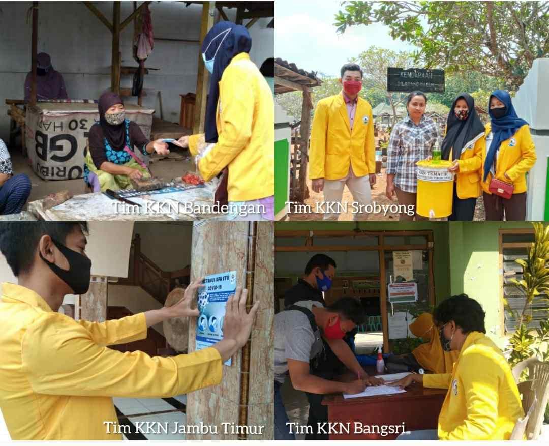 Pulang Kampung Mahasiswa KKN Universitas Tidar Berikan Edukasi Pencegahan Covid-19 Kepada Warga