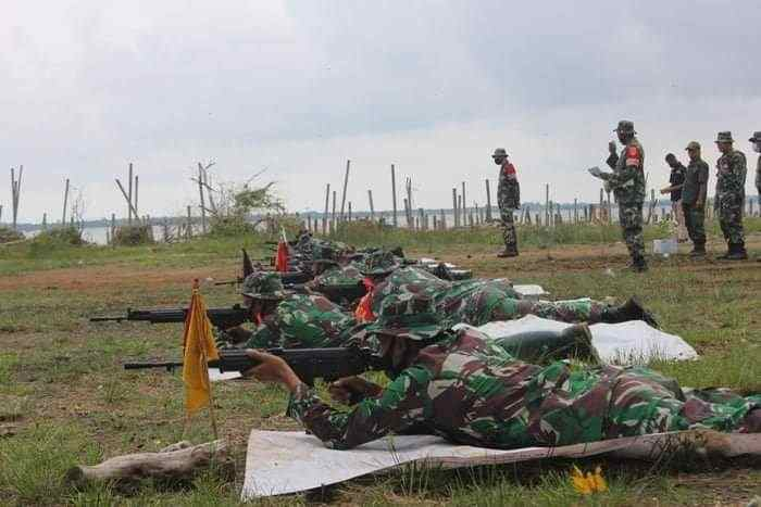 Prajurit TNI Kodim 0719 Jepara Gelar Latihan Menembak