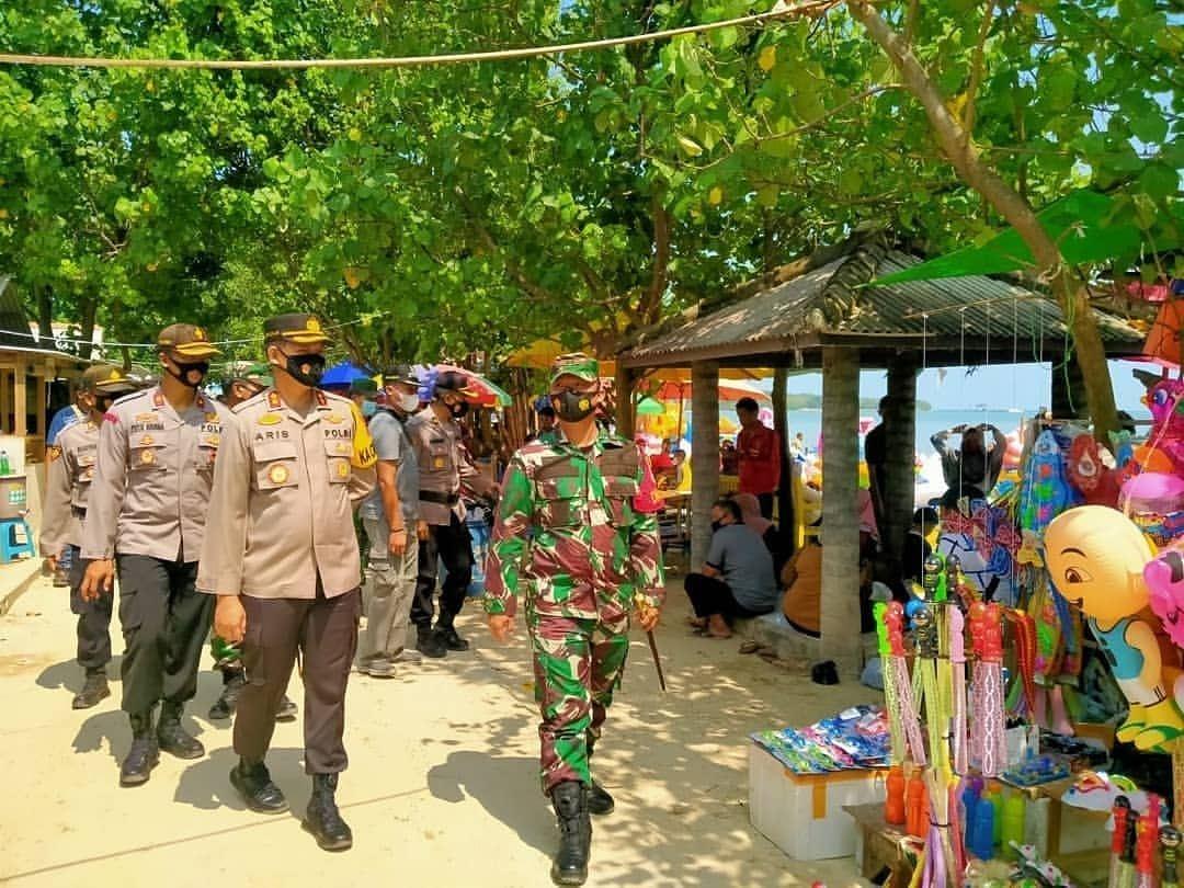 Dandim Dan Kapolres Jepara patroli pengecekan tempat keramaian dan objek wisata