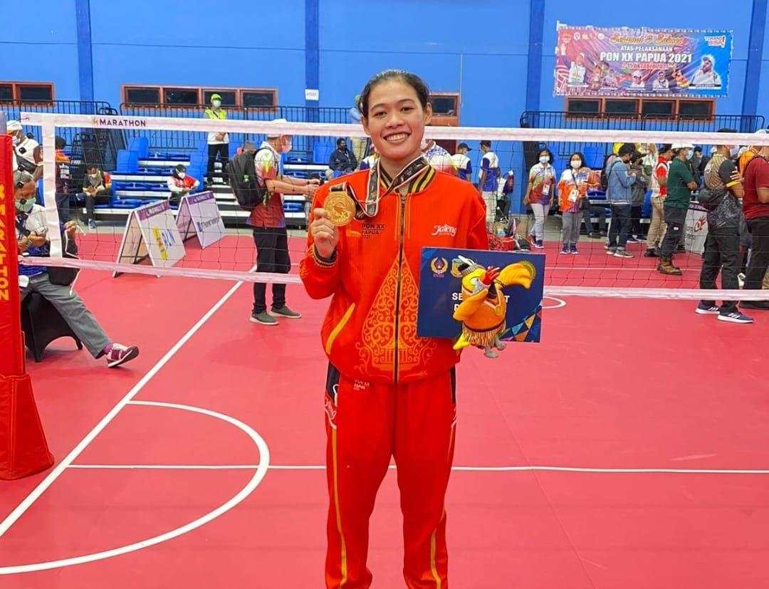 Evana rahmawati polwan polres jepara peraih medali emas PON papua